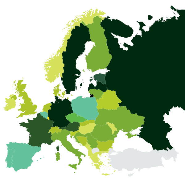 Produttori di pellet in Europa nel 2018